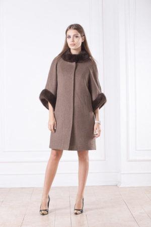 Зимнее женское пальто с мехом Дженни