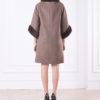 Зимнее женское пальто с мехом Дженни сзади