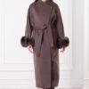 Женское зимнее пальто с мехом Лиана