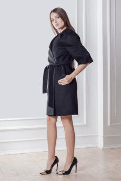 Пальто Вена из двусторонней ткани без подкладки сбоку