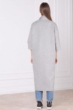 Женское шерстяное оверсайз пальто Шер