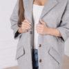 Женское шерстяное оверсайз пальто Шер крупным планом
