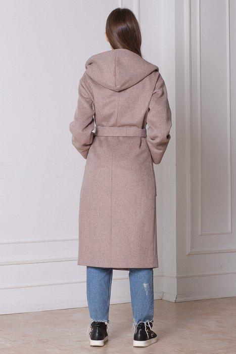 Пальто женское с капюшоном Бриджит сзади