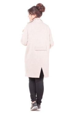Женское оверсайз пальто Линда сзади
