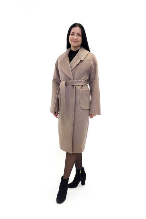 Женское шерстяное пальто Доминика сбоку
