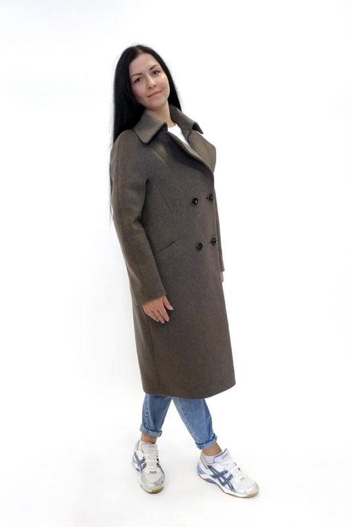Двубортное женское пальто Марсель сбоку
