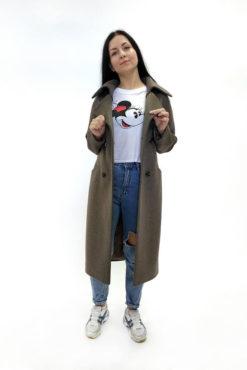 Двубортное женское пальто Марсель нараспашку