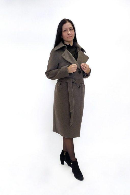 Двубортное женское пальто Марсель с воротником