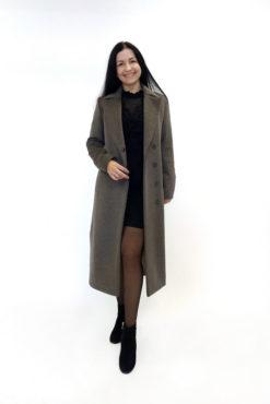 Пальто из шерстяной ткани Туя
