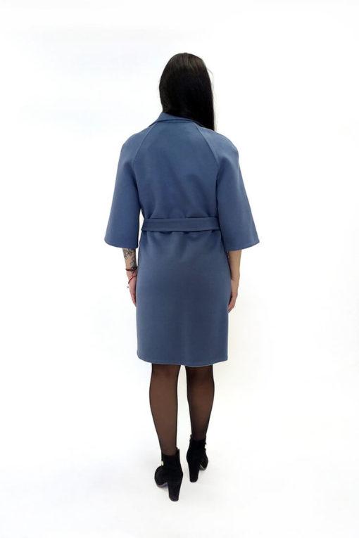 Пальто из двусторонней ткани без подкладки Вена сзади