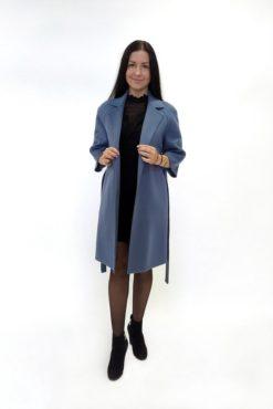 Пальто из двусторонней ткани без подкладки Вена