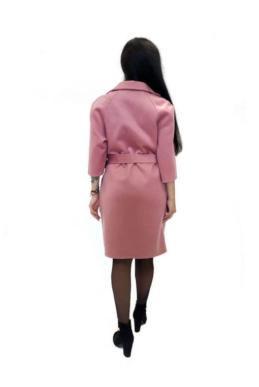 Пальто из двусторонней ткани Вена сзади