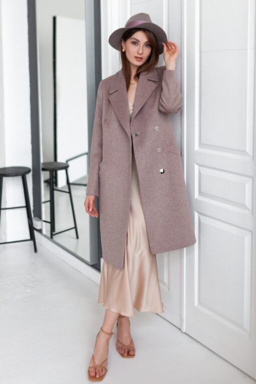 Пальто женское Юстина (кофейное)