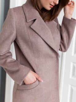 Пальто женское Юстина (кофейное) фото