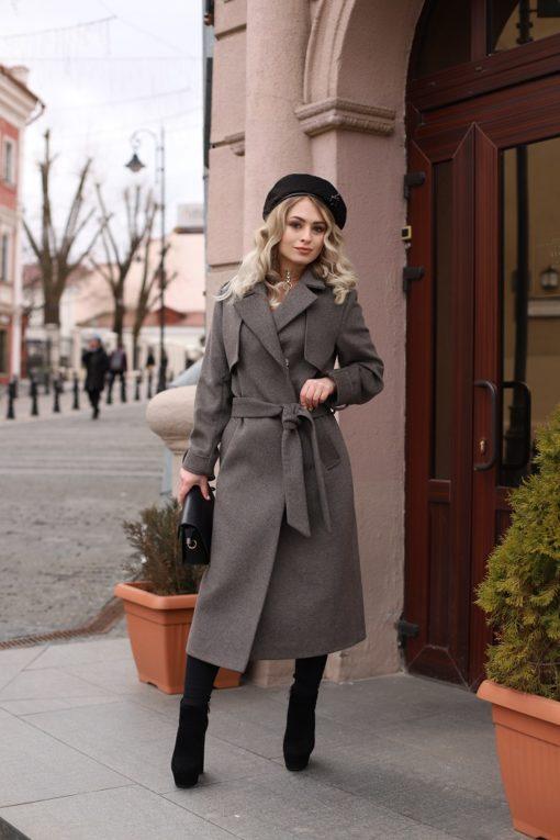 Женское пальто из шерстяной ткани Алика