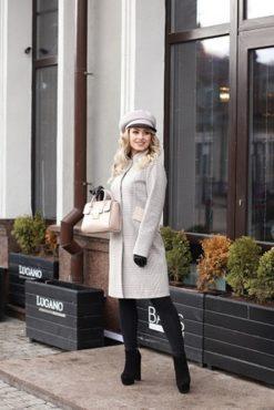 Пальто женское шерстяное Белль фото
