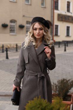 Женское пальто из шерстяной ткани Алика фото